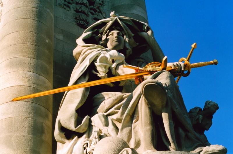 Détail du pont Alexandre III , Paris