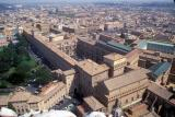 View of the Vatican Museum from the top of the dome