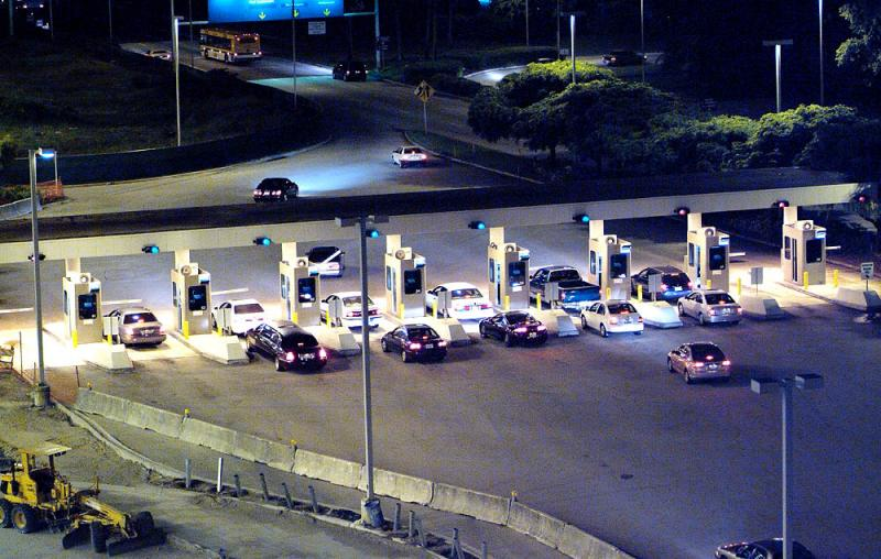 Parking toll booths at Ft. Lauderdale-Hollywood Intl Airport stock photo