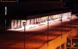 Night view of Terminal 1 at Ft. Lauderdale-Hollywood Int'l Airport stock photo