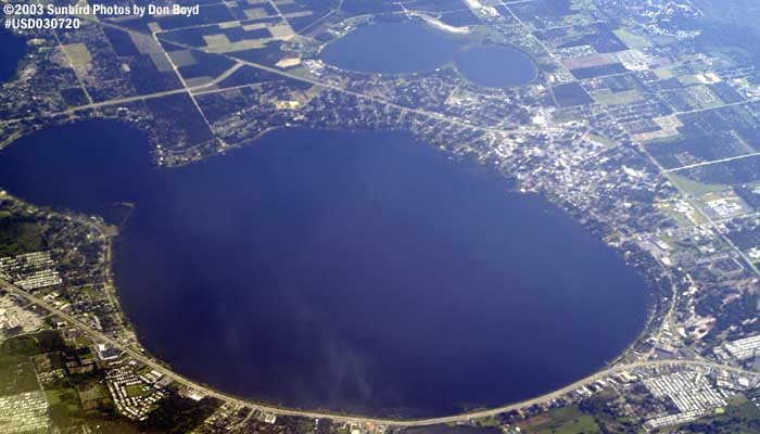 Lake Jackson at Sebring, Florida aerial stock photo #5267