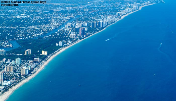 2003 - Ft.  Lauderdale beach landscape aerial stock photo #7197