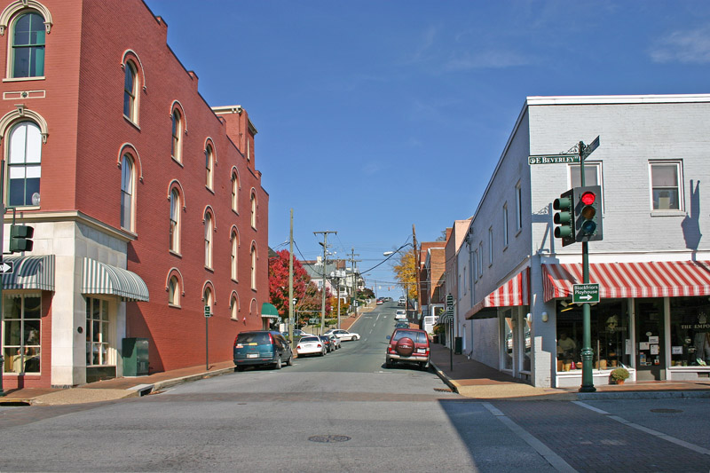Corner of New and Beverly Streets