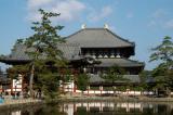 Kagami-ike Pool and Daibutsuden Hall, Todai-ji Temple