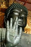 The Great Buddha, Daibutsu, of Todai-ji represents Birushana