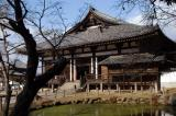 Sangatsu-do (Second Month Hall) the oldest building at Todai-ji Temple, 733 A.D.
