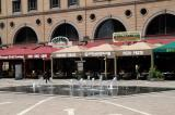 Numerous restaurants line Nelson Mandela Square
