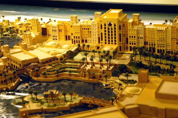 Architectural model of the Al Qasr Hotel at Madinat Jumeirah