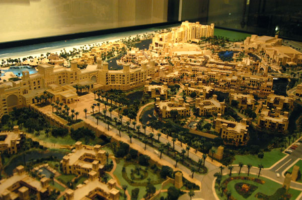 Architectural model of the now completed Madinat Jumeirah project