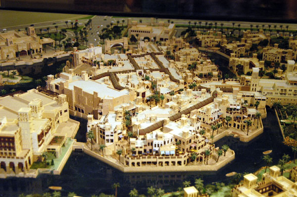 Architectural model of the beach side of the Souq Madinat Jumeirah