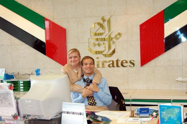 Emirates staff of the Zürich ticket office
