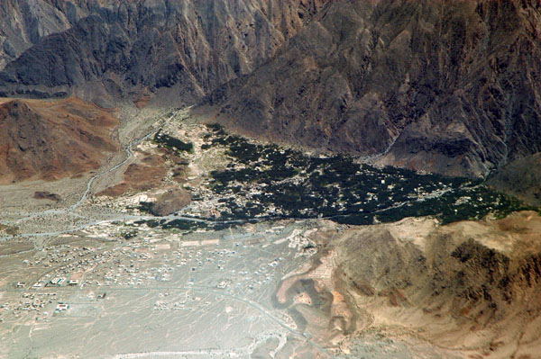 Aerial view of Nakhal, Oman