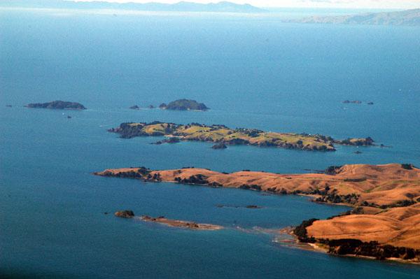 Rakino Island and the north end of Motutapu Island, Hauraki Gulf, New Zealand