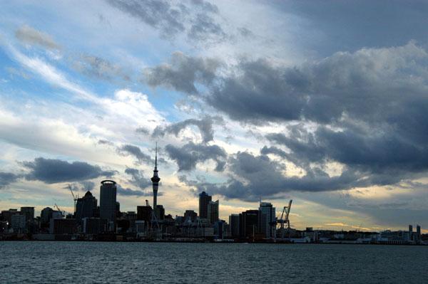 Auckland skyline from the Devonport Ferry