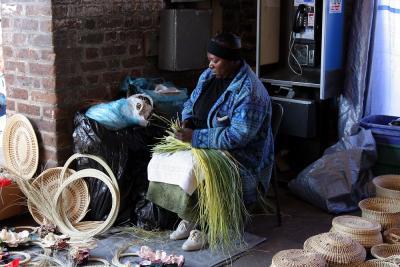 basket maker, at work