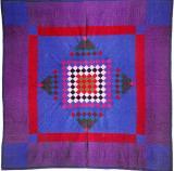 011:Center Diamond variation-Sadie Lapp, Lancaster County,PA c.1915  82x82