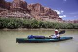 Kayaks are faster than canoes, but hold less gear.