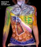 Body painting   ,   airbrush  www.decormoi.com
