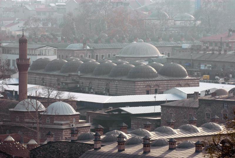 Bursa bazaar area from far