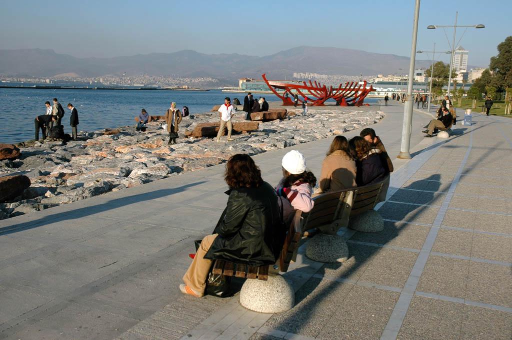 Izmir along sea front