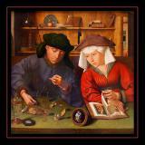 Le Changeur et sa Femme (1514) par Quentin METSYS