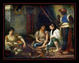 Femmes d' Alger (1834) par Eugène DELACROIX