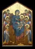 La Vierge et l'Enfant  Entourés d'Anges  (1270) par CIMABUE