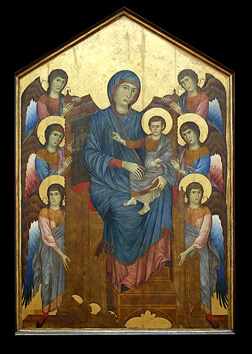 La Vierge et lEnfant  Entourés dAnges  (1270) par CIMABUE