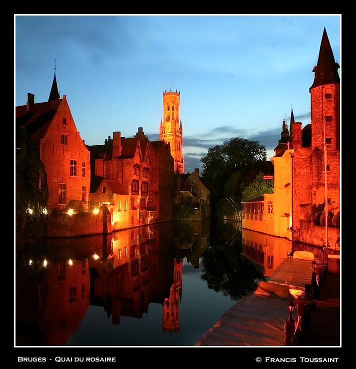 Bruges summer night