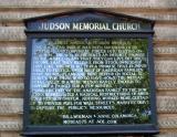 Judson Memorial Church Entrance Bulletin Board