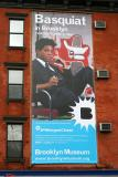 Basquiat at Brooklyn Museum - Billboard on LaGuardia Place at W Houston