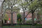 Southwest Corner - Chess Players Corner & NYU Law School