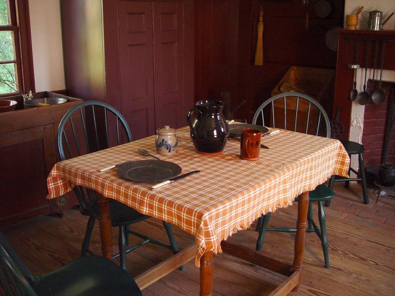 Kitchen - Benjamin House (restored to 1829)