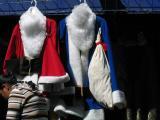 blue santa suit