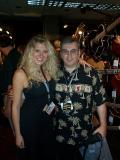 Anne Nyhuis (from Dean Guitars) and me