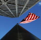 Flag at Hancock Center