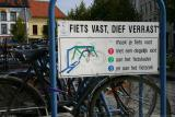 Turnhout (Belgium)Fiets vast, dief verrast