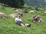 Kleinwalsertal - Wildental - der Ludo und die Kühe