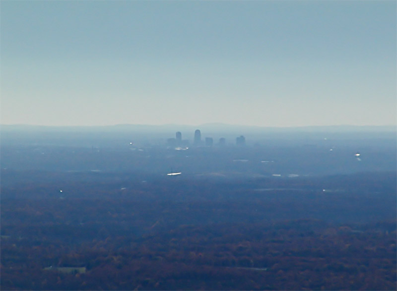 Winston-Salem skyline from Sauratown Mountain