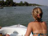 Sarah sights a porpoise on the intra-coastal