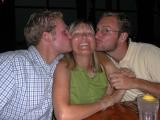 Heather enjoys a moment of appreciation from her two boys