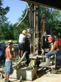 Drillers begin work on 240 foot deep well for irrigation