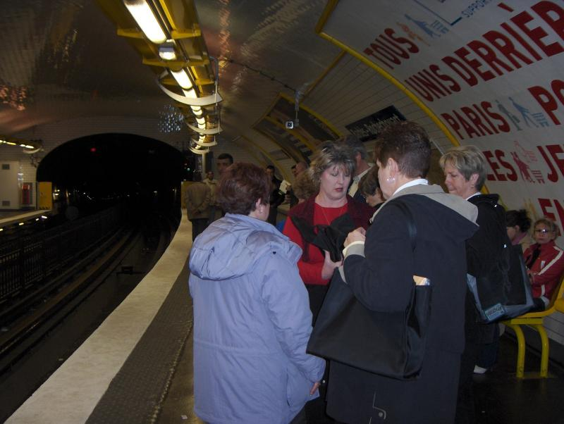 One of our trips on the RER and Metro