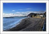 The beach and railings, Sidmouth