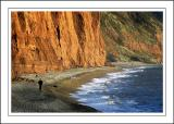 A lone walker, Sidmouth