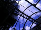 Lloyds of London Building, entrance looking up.