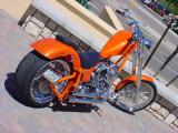 custom orange chopper