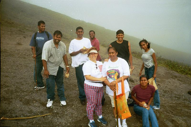 The weather was foggy and the wind was kickin dust on top of Soufriere!