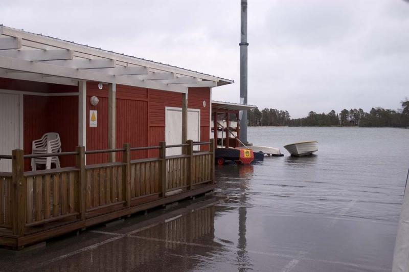 ... and large enough pier for the dinghies