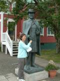 Statue of children's author Nonni (Jón Sveinsson) at Akureyri